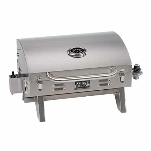 Smoke Hollow 205 Stainless Steel Table Top Propane Gas Grill