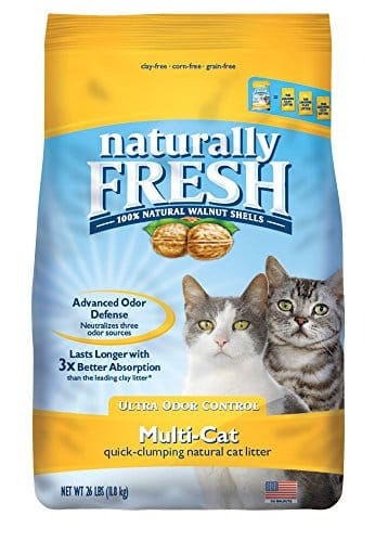 Naturally Fresh Walnut-Based Household Quick-Clumping Cat Litter
