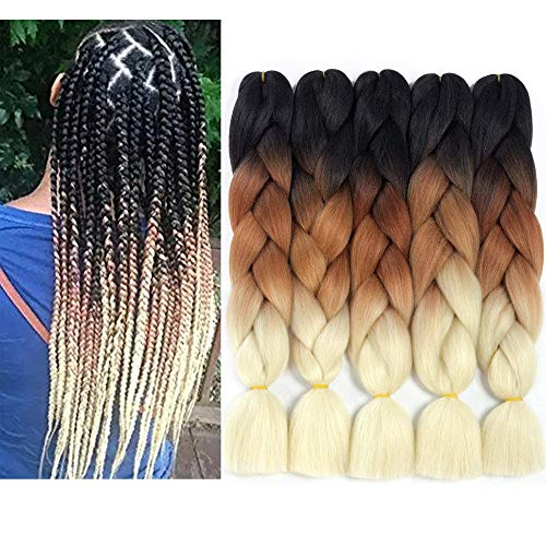 Ombre Kanekalon Jumbo Braiding Hair Pieces