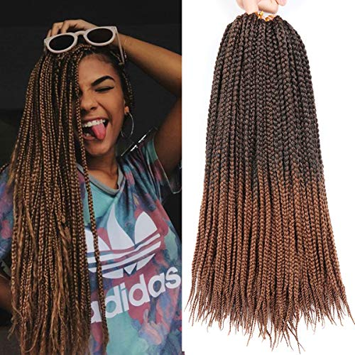 7 Packs 18 Inches Medium Box Braids Hair