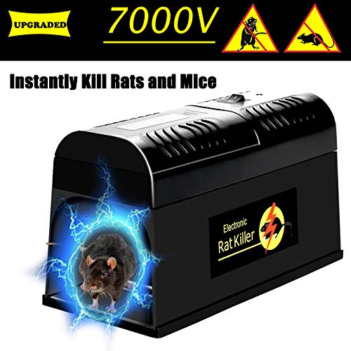 Swiser Electronic Rat Trap -Powerful Mouse Rodent Trap Killer -Eliminate Mice, Rats, Chipmunks, and Squirrels Zapper