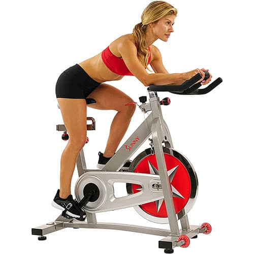 Sunny Health & Fitness's SF-B901 Pro Indoor Cycling Bike with 40 LB Chromed Flywheel