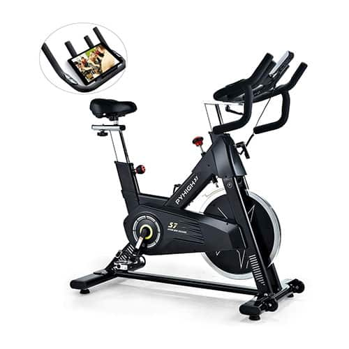 PYHIGH's Indoor Cycling Bike-48lbs Flywheel Belt Stationary Bike