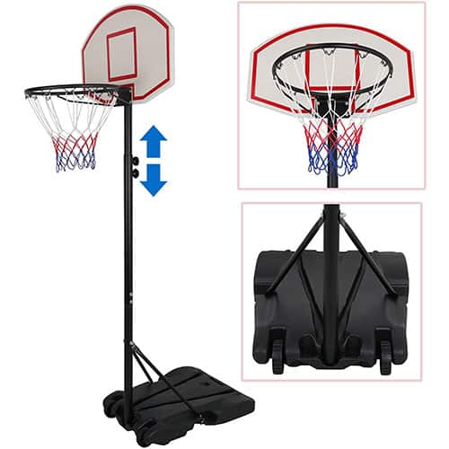 ZENY Portable Basketball Hoop Backboard System Stand