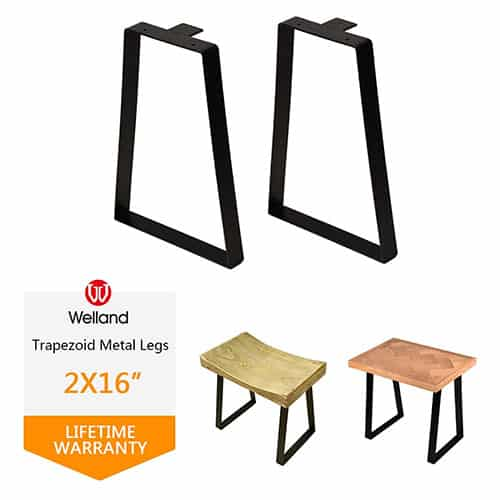 Welland Trapezoid Metal Table Legs