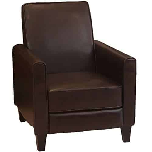 Christopher Knight Home Lucas Leather Recliner Club Chair