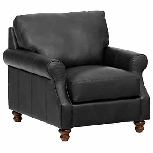 Stone & Beam Charles Classic Oversized Leather Chair