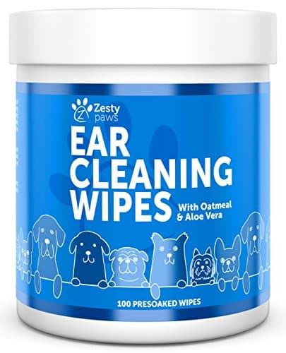Zetsy Paws Ear Cleaning Grooming Wipes for Dogs
