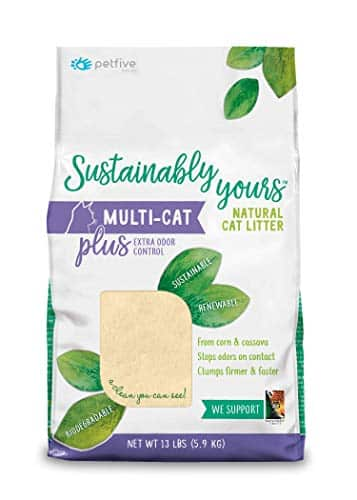 PetFive Sustainably Yours Natural Sustainable Multi-Cat Litter